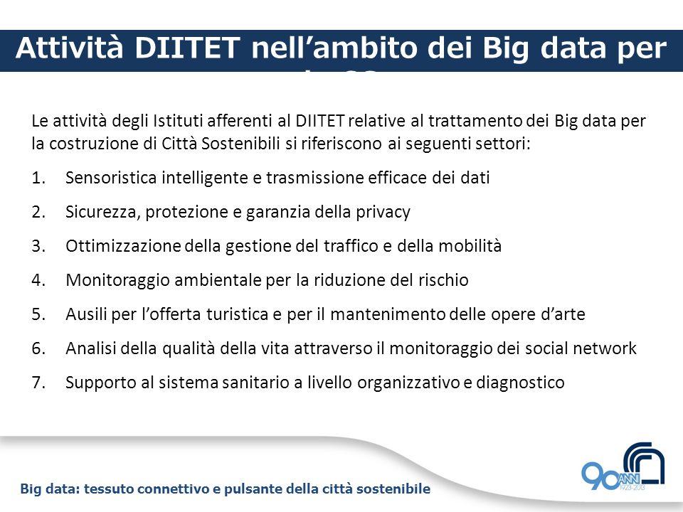 Attività DIITET nell'ambito dei Big data per la CS