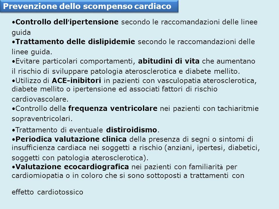 Prevenzione dello scompenso cardiaco