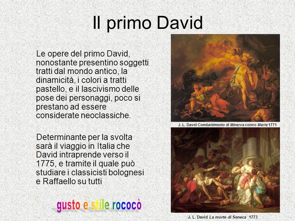 Il primo David gusto e stile rococò
