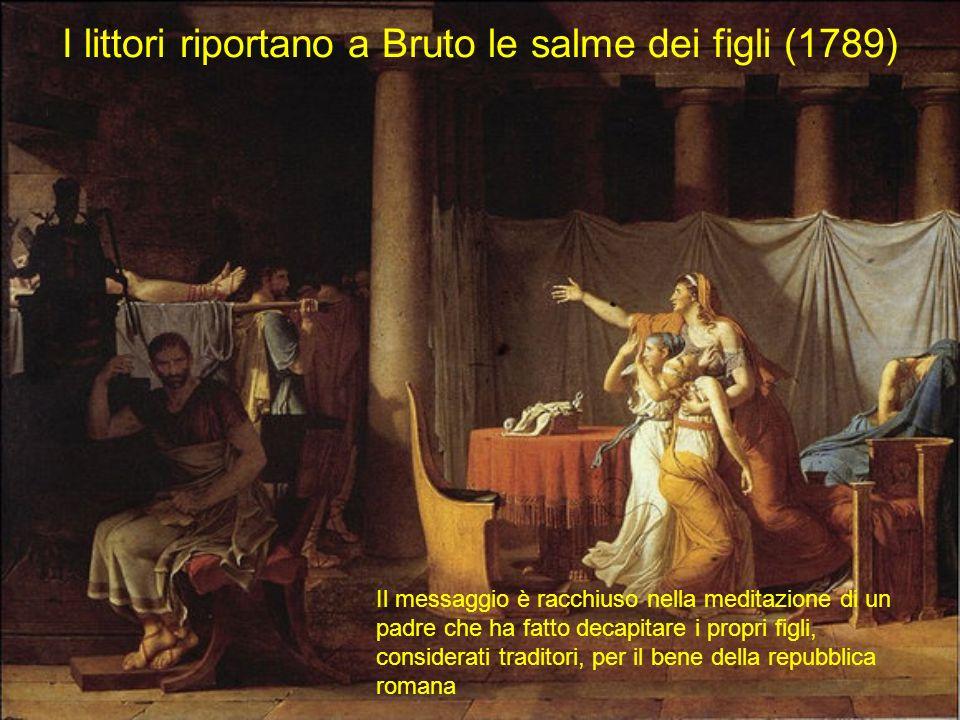 I littori riportano a Bruto le salme dei figli (1789)
