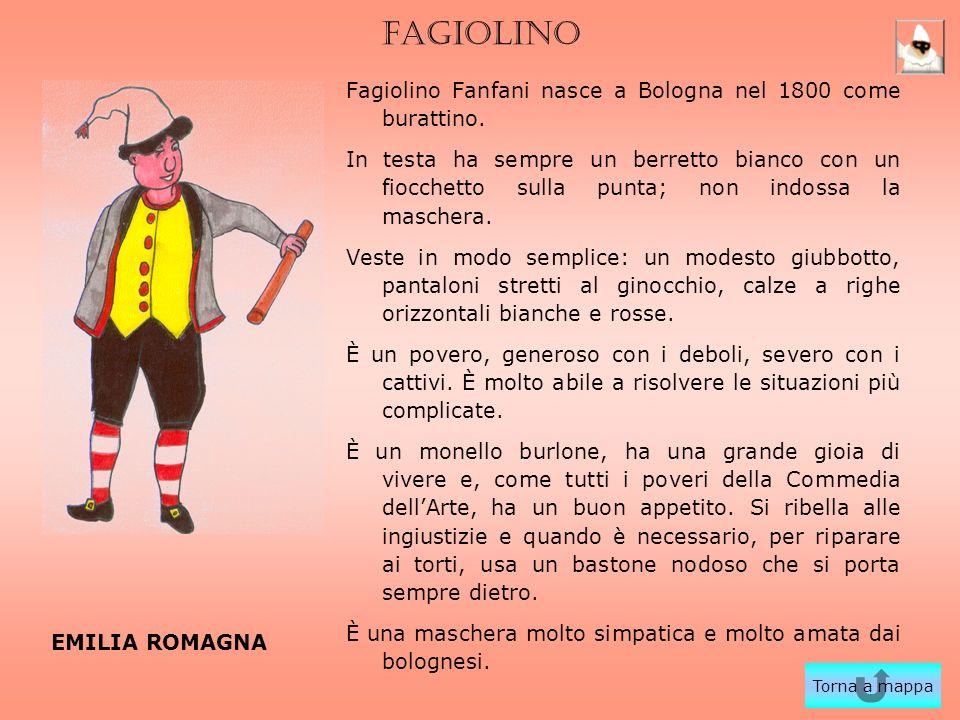 FAGIOLINO Fagiolino Fanfani nasce a Bologna nel 1800 come burattino.