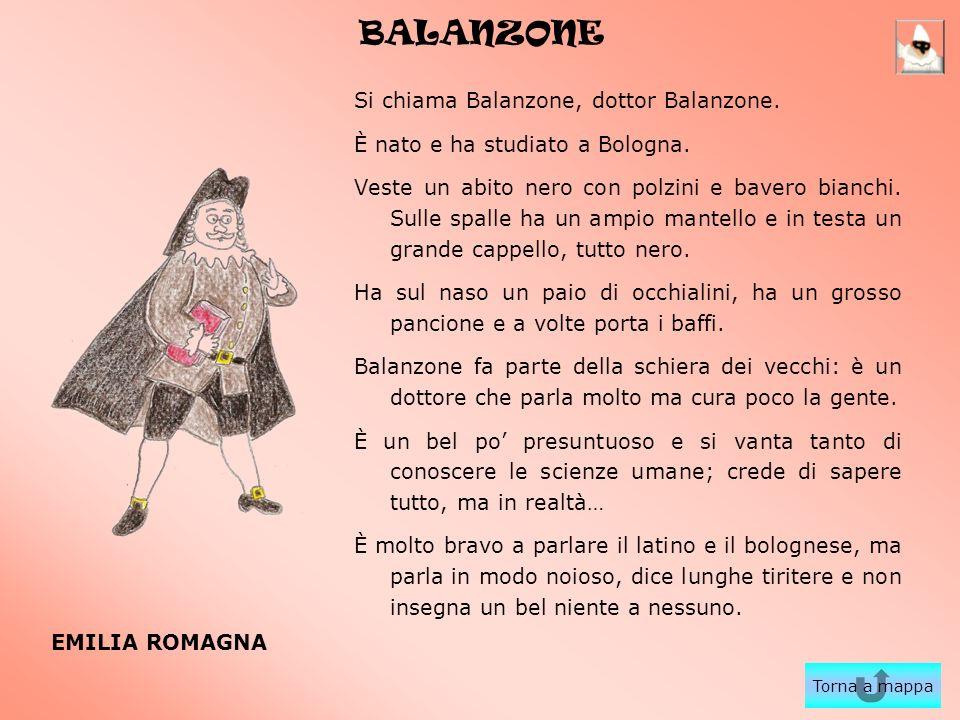 BALANZONE Si chiama Balanzone, dottor Balanzone.