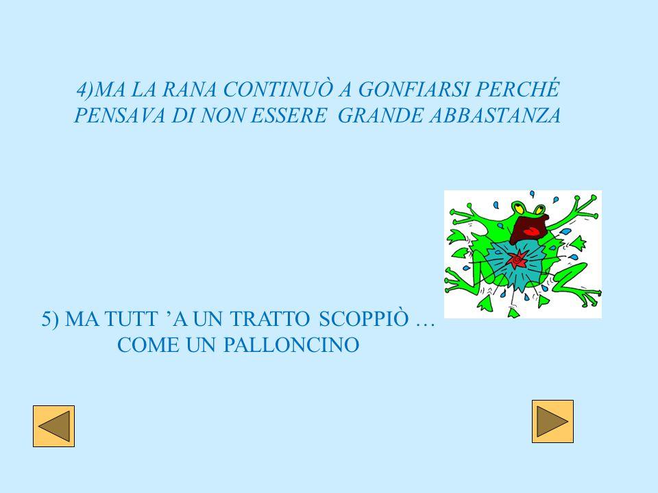 5) MA TUTT 'A UN TRATTO SCOPPIÒ … COME UN PALLONCINO