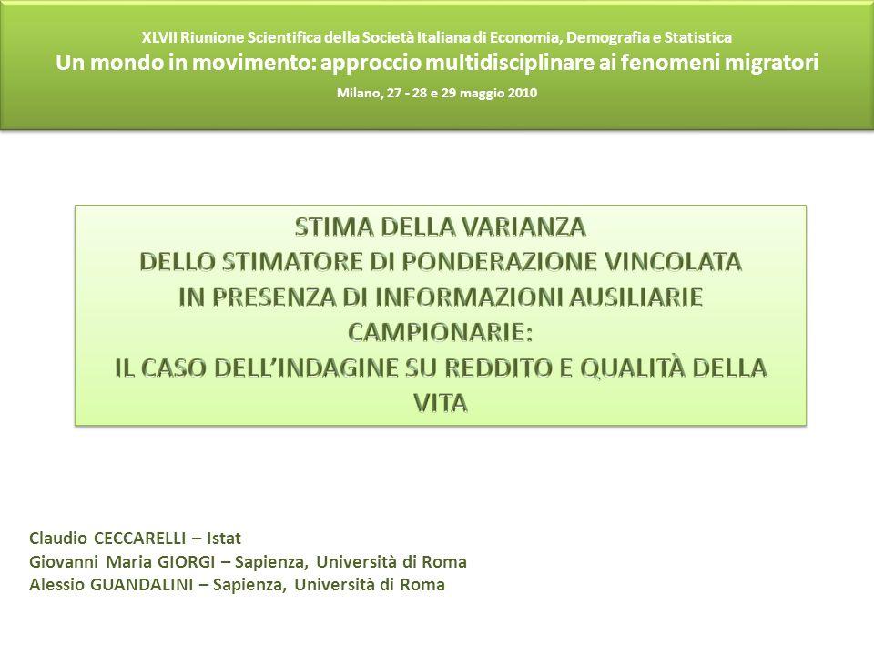 DELLO STIMATORE DI PONDERAZIONE VINCOLATA