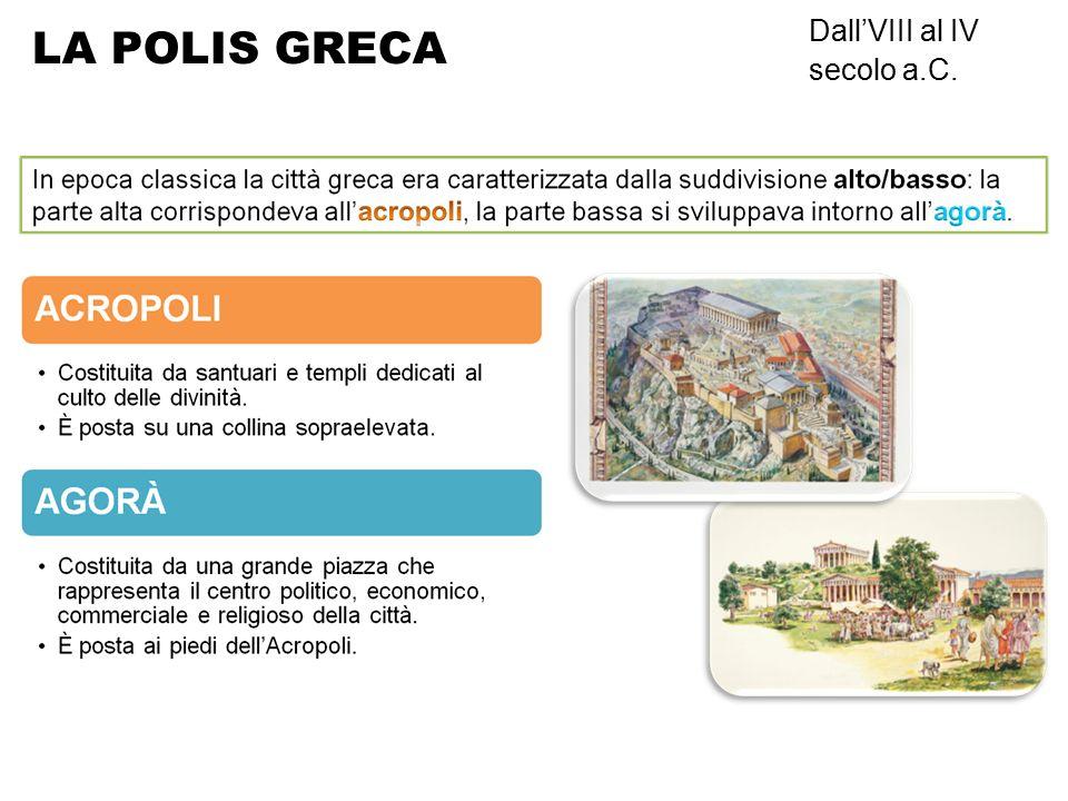 LA POLIS GRECA Dall'VIII al IV secolo a.C.