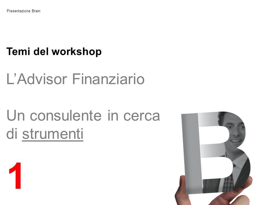 1 L'Advisor Finanziario Un consulente in cerca di strumenti