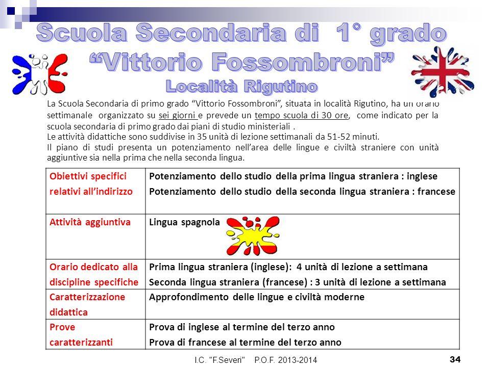 Scuola Secondaria di 1° grado Vittorio Fossombroni