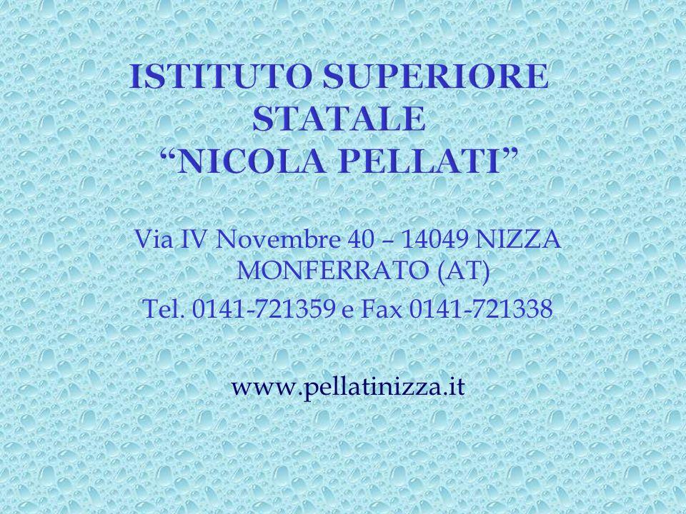 ISTITUTO SUPERIORE STATALE NICOLA PELLATI