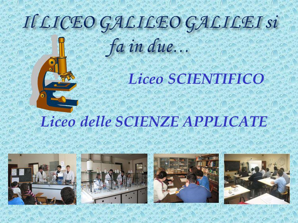 Il LICEO GALILEO GALILEI si fa in due…