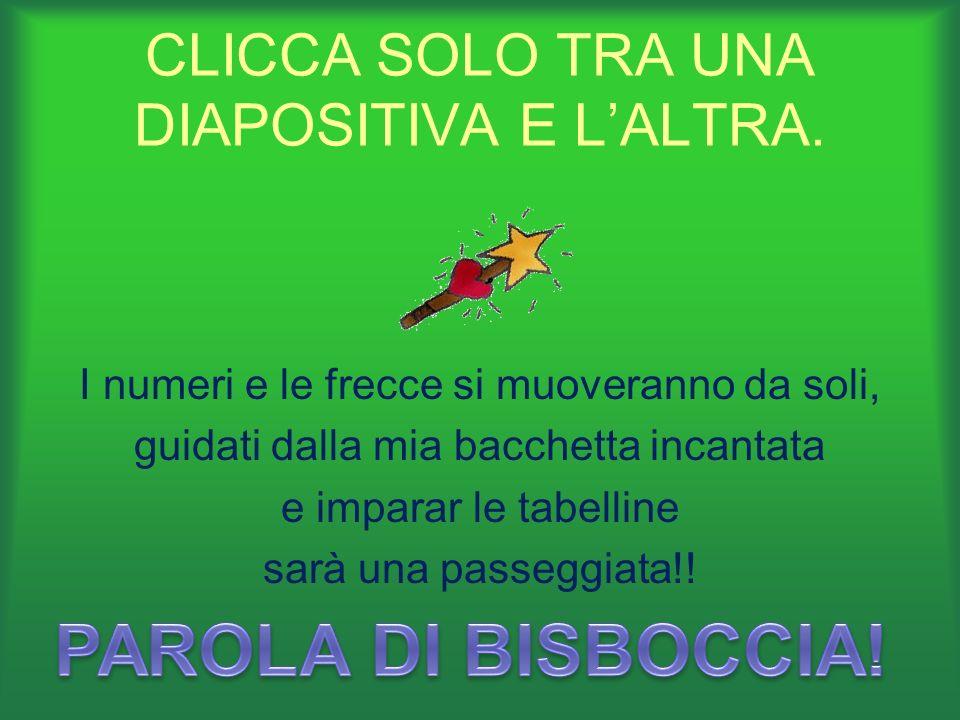 CLICCA SOLO TRA UNA DIAPOSITIVA E L'ALTRA.