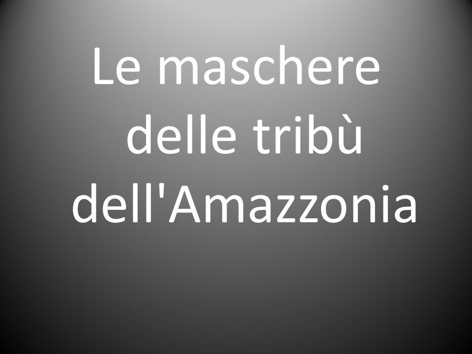 Le maschere delle tribù dell Amazzonia