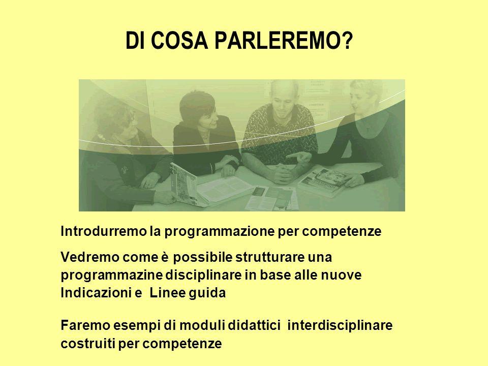 DI COSA PARLEREMO Introdurremo la programmazione per competenze