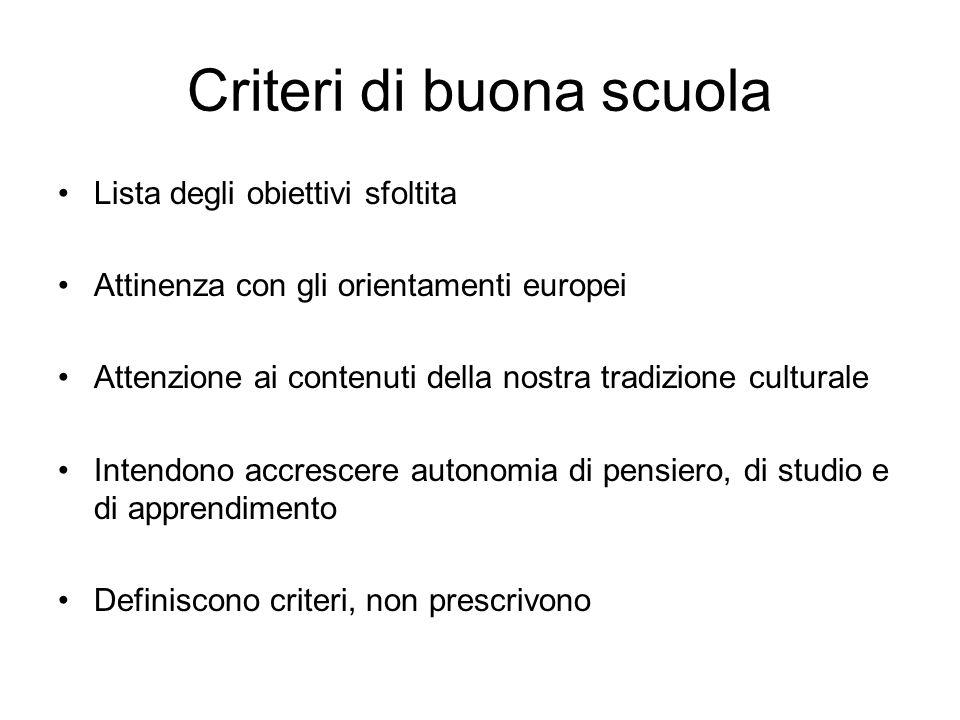Criteri di buona scuola