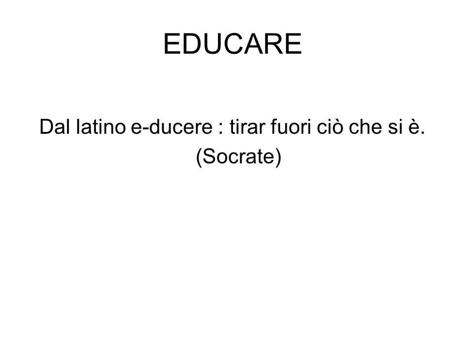 Dal latino e-ducere : tirar fuori ciò che si è.