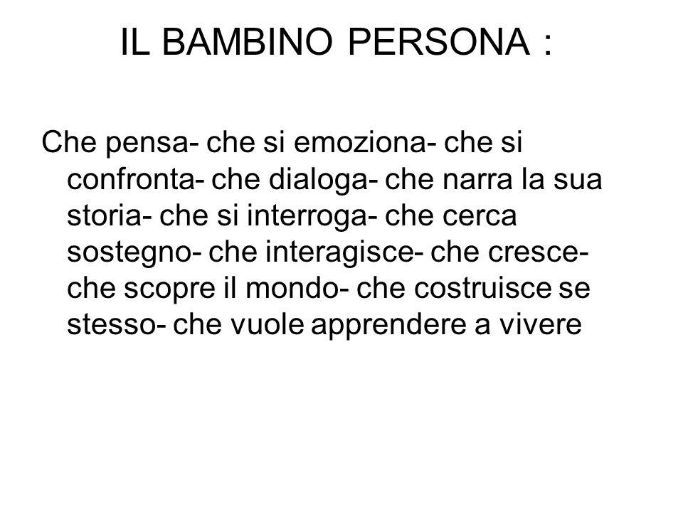 IL BAMBINO PERSONA :