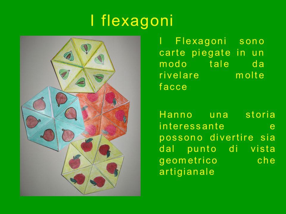 I flexagoni I Flexagoni sono carte piegate in un modo tale da rivelare molte facce.