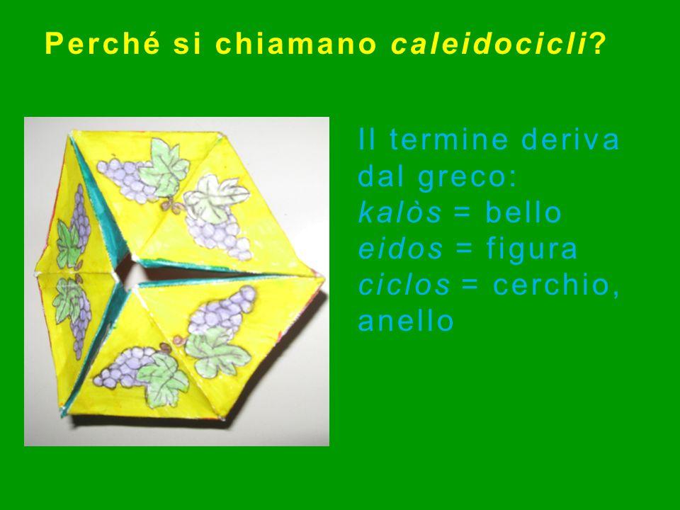 Perché si chiamano caleidocicli
