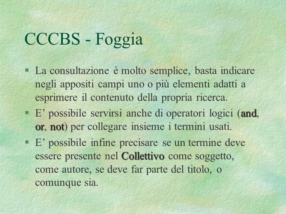 CCCBS - Foggia