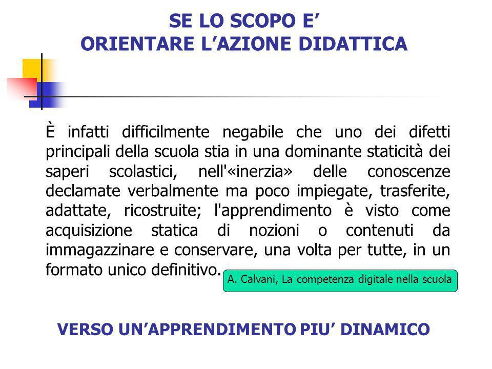 ORIENTARE L'AZIONE DIDATTICA