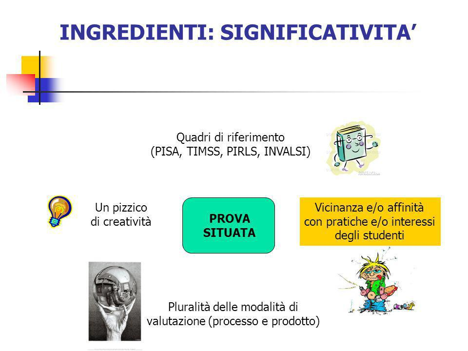 INGREDIENTI: SIGNIFICATIVITA'
