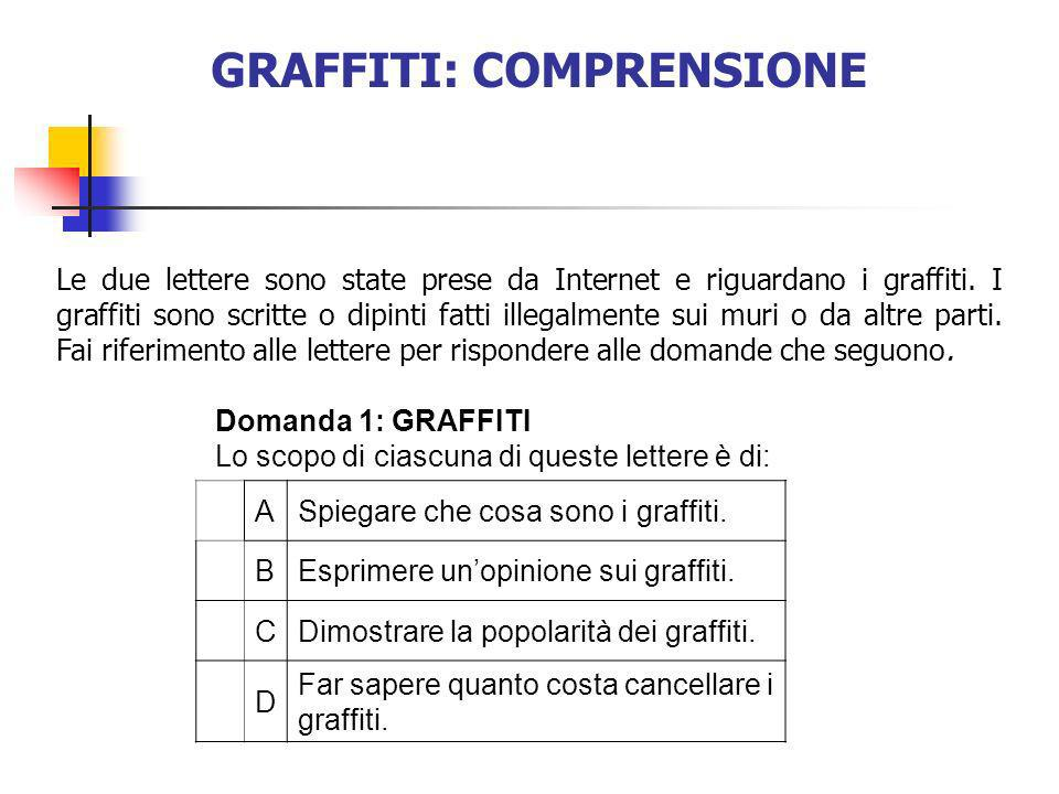 GRAFFITI: COMPRENSIONE