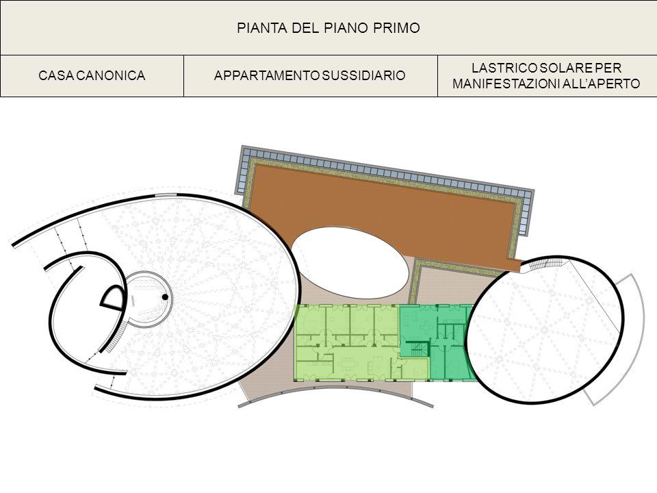 PIANTA DEL PIANO PRIMO CASA CANONICA APPARTAMENTO SUSSIDIARIO