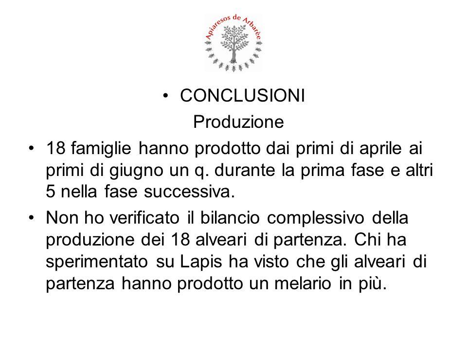 CONCLUSIONI Produzione.