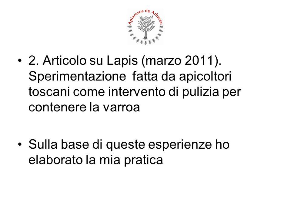 2. Articolo su Lapis (marzo 2011)