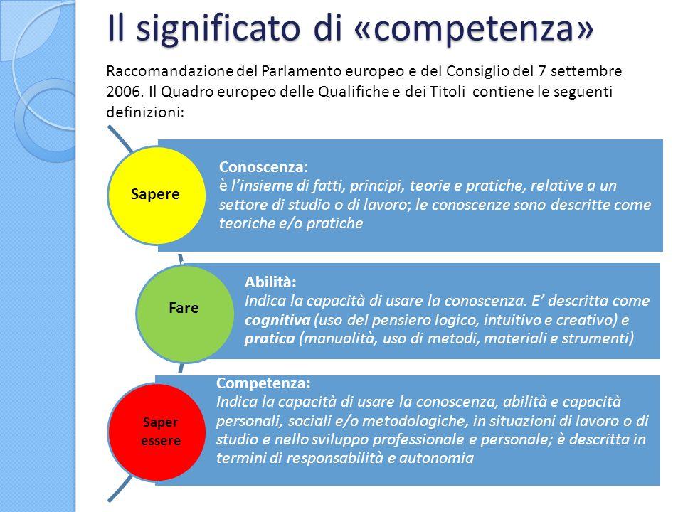 Il significato di «competenza»
