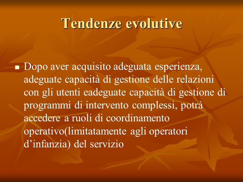 Tendenze evolutive