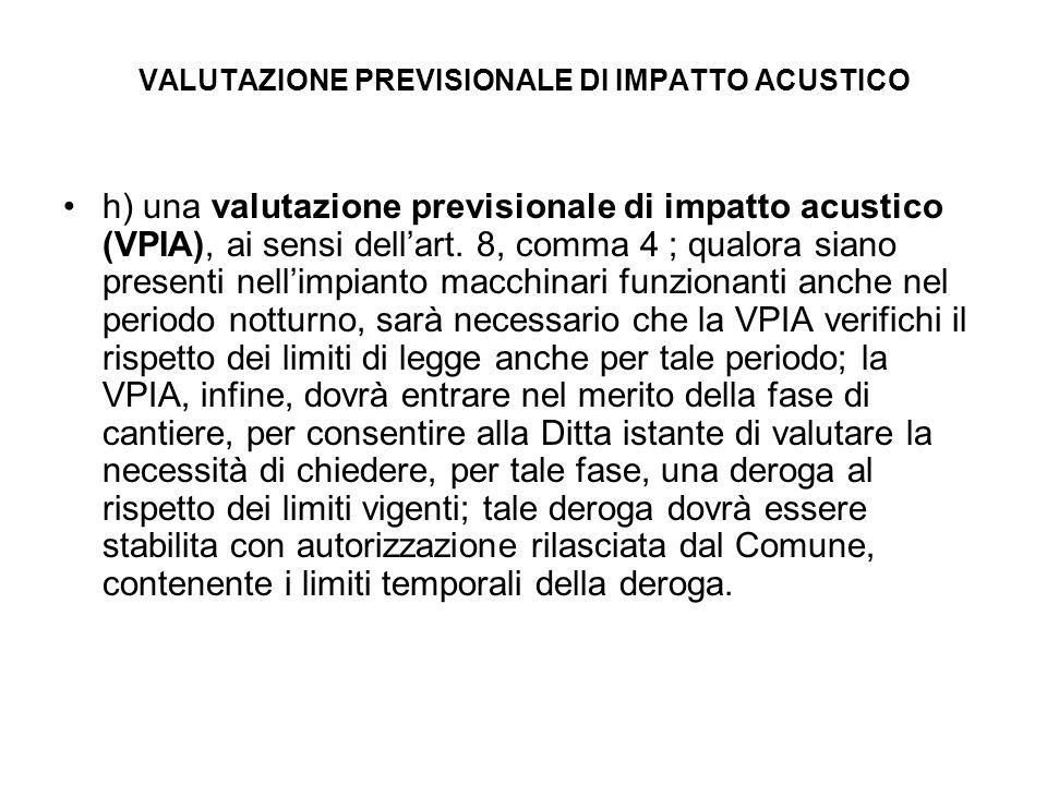 VALUTAZIONE PREVISIONALE DI IMPATTO ACUSTICO