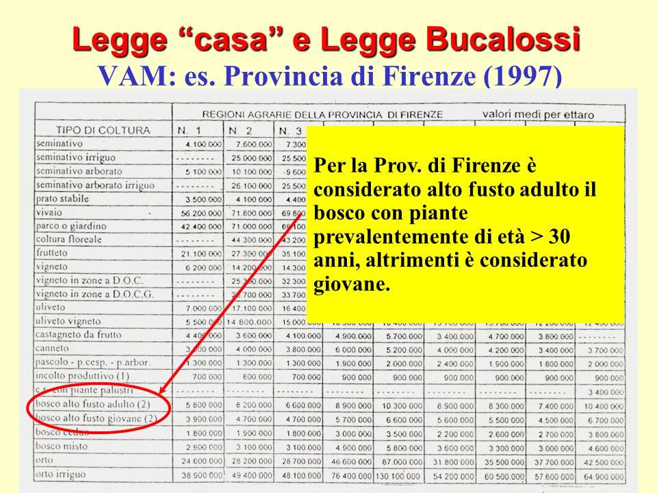 Legge casa e Legge Bucalossi VAM: es. Provincia di Firenze (1997)