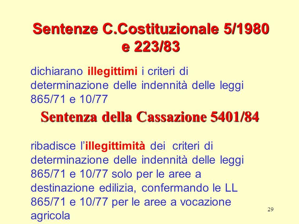 Sentenze C.Costituzionale 5/1980 e 223/83