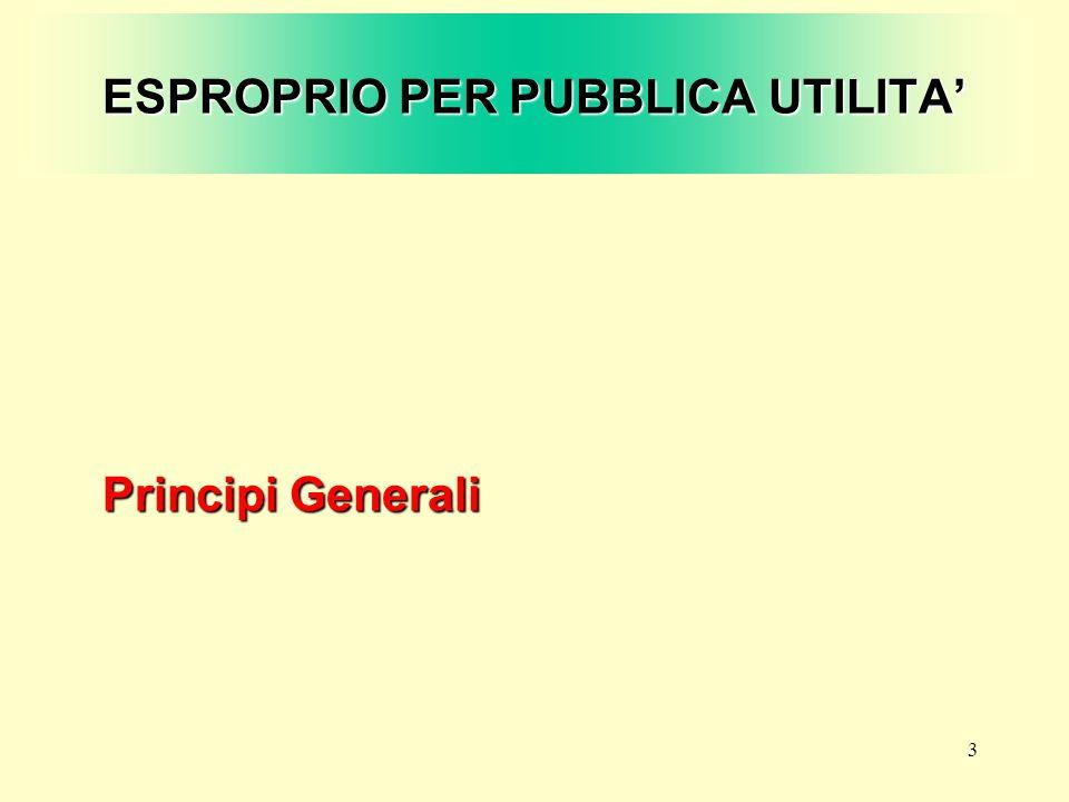 ESPROPRIO PER PUBBLICA UTILITA'