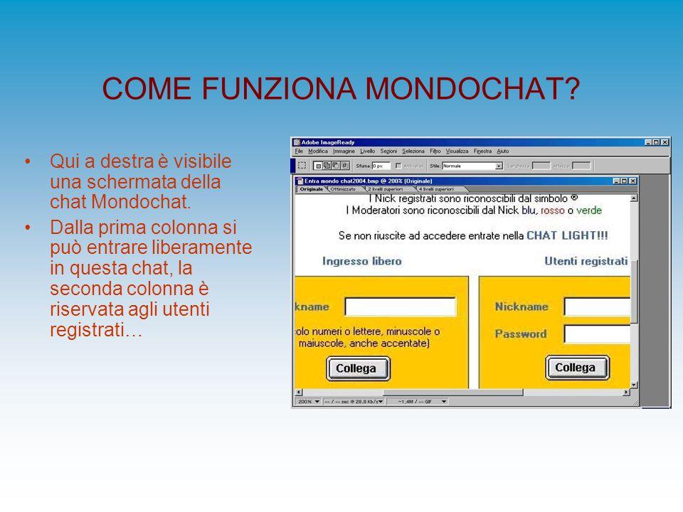 COME FUNZIONA MONDOCHAT