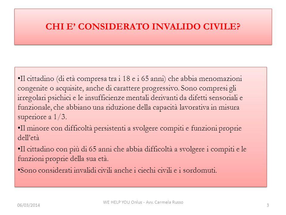 CHI E' CONSIDERATO INVALIDO CIVILE
