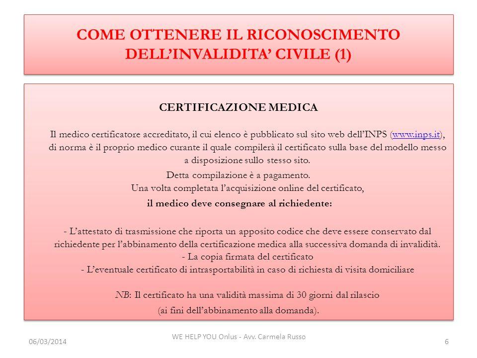 COME OTTENERE IL RICONOSCIMENTO DELL'INVALIDITA' CIVILE (1)