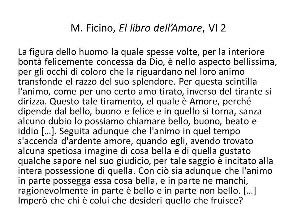 M. Ficino, El libro dell'Amore, VI 2