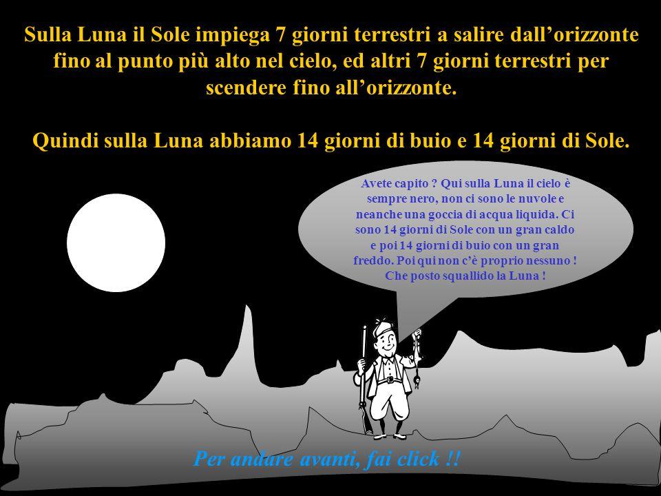 Sulla Luna il Sole impiega 7 giorni terrestri a salire dall'orizzonte