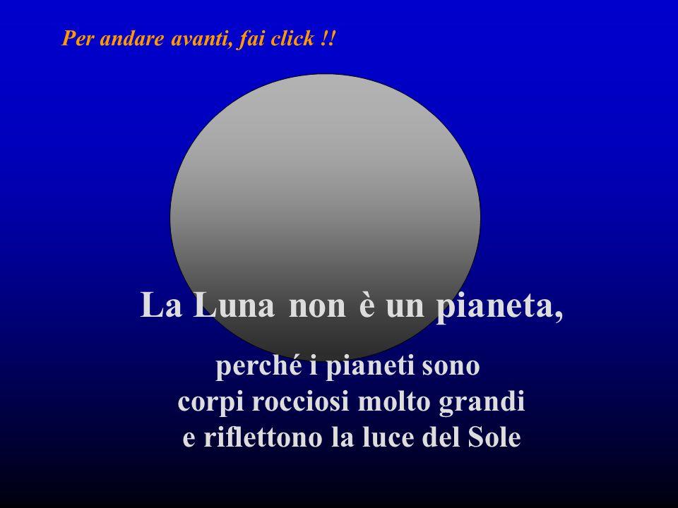 La Luna non è un pianeta, perché i pianeti sono