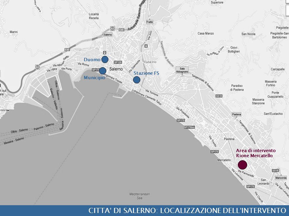 CITTA' DI SALERNO: LOCALIZZAZIONE DELL'INTERVENTO