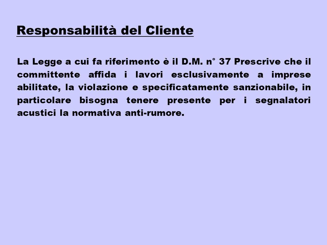 Responsabilità del Cliente