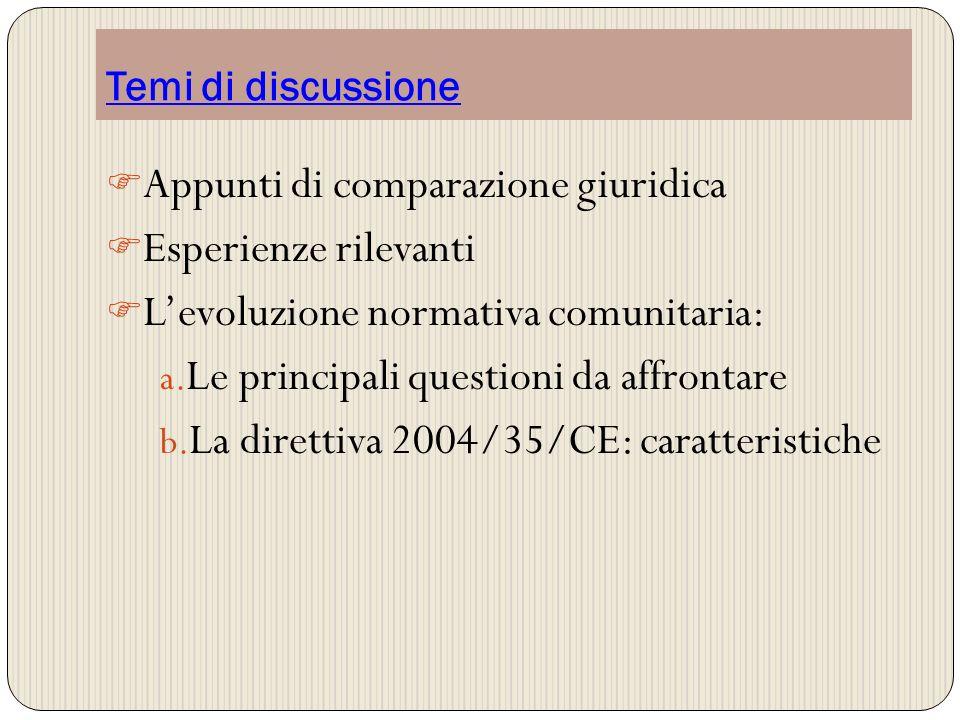 Appunti di comparazione giuridica Esperienze rilevanti