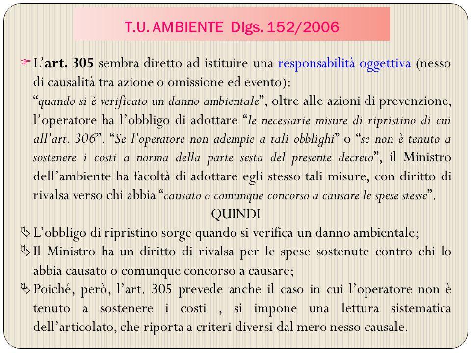 T.U. AMBIENTE Dlgs. 152/2006