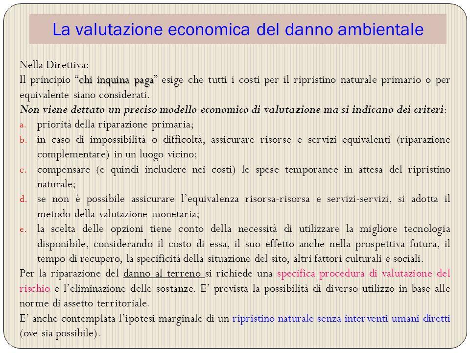 La valutazione economica del danno ambientale