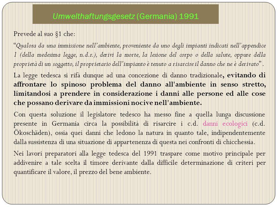 Umwelthaftungsgesetz (Germania) 1991