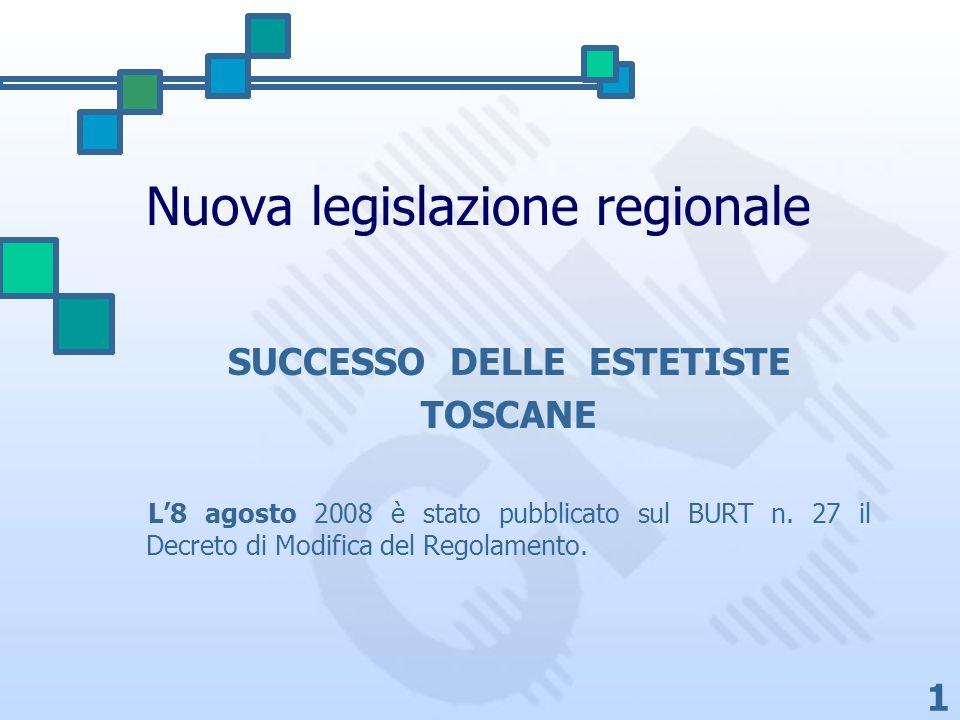 Nuova legislazione regionale