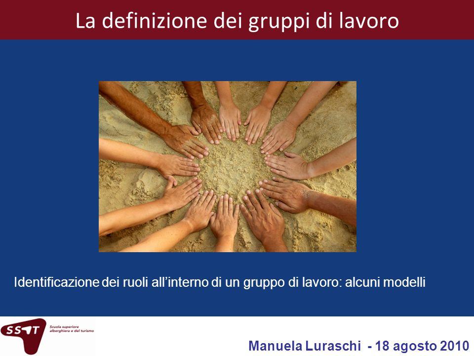 La definizione dei gruppi di lavoro