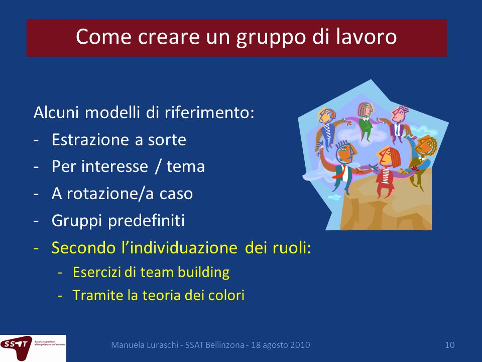 Come creare un gruppo di lavoro