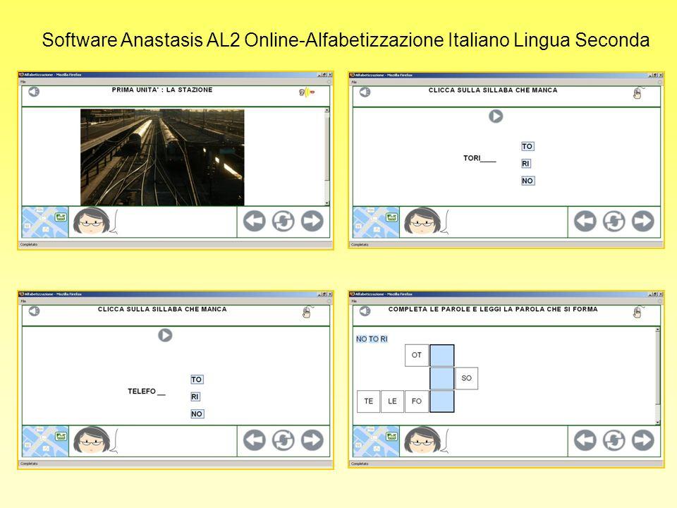 Software Anastasis AL2 Online-Alfabetizzazione Italiano Lingua Seconda